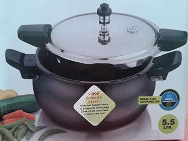 Vinod Hard Anodised Magic 5.5 L Pressure Cooker (Outer Lid) Price in India