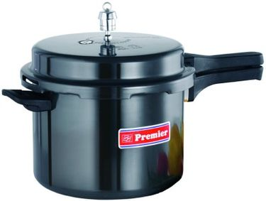 Premier Trendy Black Aluminium 5 L Pressure Cooker (Outer Lid) Price in India