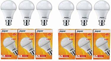 Jaquar 7W Prima B22 LED Bulb (White, Pack of 6) Price in India