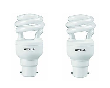 Havells T2 Spiral 8W B-22 HPF CFL Bulb (Cool Day Light, Pack of 2) Price in India