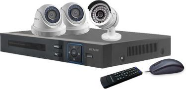 Blaze BGD2B1-HD 4-Channel Dvr (With 2 Dome & 1 Bullet Camera, Remote, Mouse) Price in India