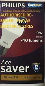 Philips Ace Saver 9W 740L E27 LED Bulb (Warm White, Pack of 4) Price in India