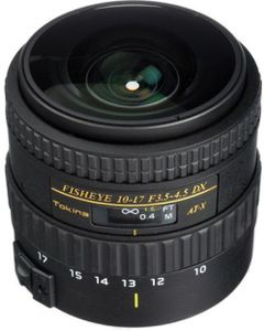 Tokina AF 10 - 17 mm f/3.5 - 4.5 AT-X 107 AF FX NH Fisheye Lens (for Canon) Price in India