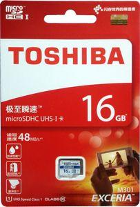 Toshiba Exceria 16GB MicroSDHC Class 10 (48MB/s) Memory Card Price in India