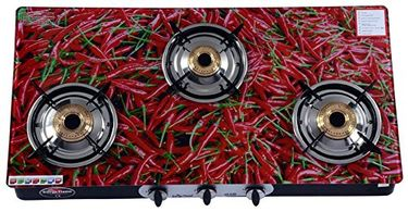 1103dd758a4 Surya Flame Red Chilly SFRC-GL-1413B-A Gas Cooktop (3 Burner