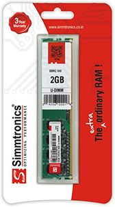 Simmtronics 2GB DDR2 800Mhz Desktop Ram Price in India