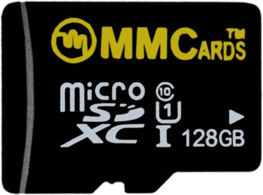 MMCards 128GB MicroSDHC Class 10 (10MB/s) Memory Card Price in India