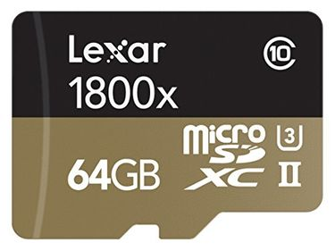 Lexar Professional 1800x 64GB MicroSDXC UHS-II Memory Card (With USB 3.0 Reader) Price in India