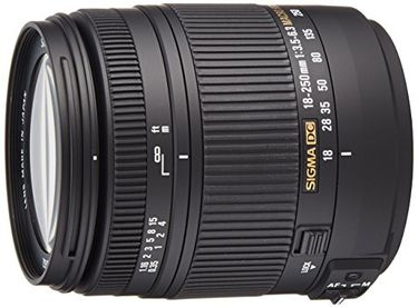 Sigma 18-250mm F/3.5-6.3 DC HSM Telephoto Zoom Lens (For Pentax DSLR) Price in India