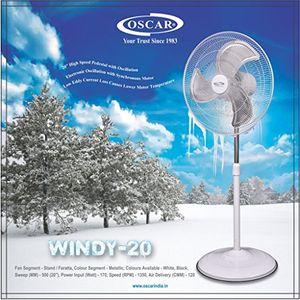 Oscar OSC-Windy 20 3 Blade (500mm) Pedestal Fan Price in India