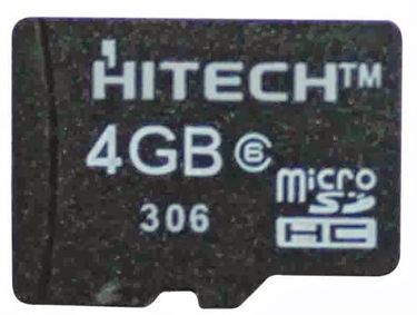 Hitech 4GB MicroSDHC Class 4 Memory Card Price in India