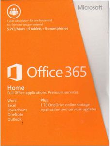 Microsoft Office 365 Home Premium Product Key Card (32-bit| 64-Bit) Price in India