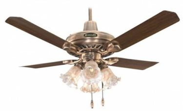 Breezalit Elegance Antique Brass 4 Blade (1200mm) Ceiling Fan Price in India