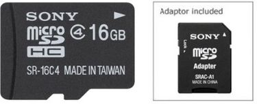 Sony 16GB MicroSDHC Class 4 Memory Card (With Adapter) Price in India