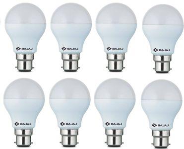 Bajaj 9W B22 Round LED Bulb (White, Pack of 8) Price in India