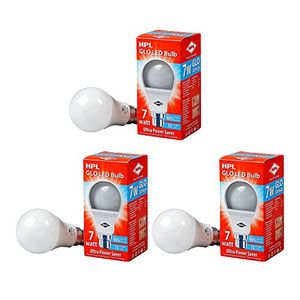 HPL Glo 7W B22 LED Bulb (Pack of 3, Cool Day Light) Price in India