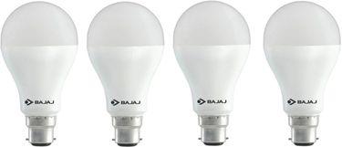 Bajaj 8W B22 Round LED Bulb (White, Pack of 4) Price in India