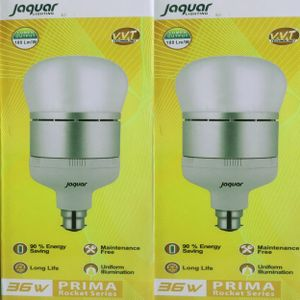 Jaquar Prima 36W B22 Round LED Bulb (White, Pack of 2) Price in India