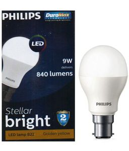 Philips Stellar Bright 9W B22 Led Bulb (Warm White,Pack of 6) Price in India