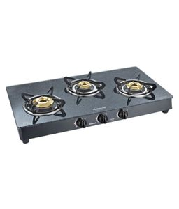 Sunflame Crystal Granito 3 Burner Manual Gas Cooktop Price in India