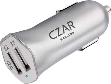 CZAR 4.8A Dual Port Turbo Car Charger Price in India