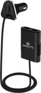 Amkette 9.6A 4 Port Car Charger Price in India
