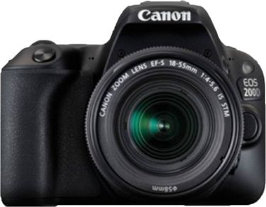 Canon EOS 200D DSLR (With EF-S 18-55mm f4 IS STM Lens) Price in India