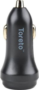 Toreto TOR 401 2.4A Dual Port Car Charger Price in India