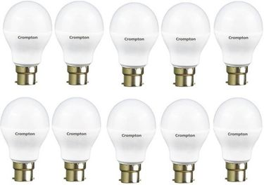 Crompton 9W Standard B22 800L LED Bulb (White, Pack of 10) Price in India