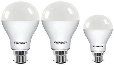 Eveready 14W B22 100L LED BULB (White,Pack of 2) with 9w 6500k White LED Bulb Price in India