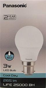 Panasonic 3W B22 265L 6500K LED Bulb (White) Price in India