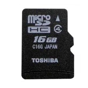 Toshiba 16GB MicroSDHC Class 4 (15MB/s) Memory Card Price in India