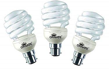 Ornate 27W B22 CFL Bulb (White, Pack of 3) Price in India