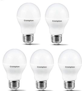 Crompton Led Pro 7W Standard E27 600L LED Bulb (White,Pack of 5) Price in India