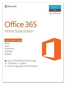 Microsoft Office 365 Home Subscription 5 PC (Key) Price in India