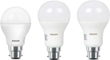 Philips Stellar Bright 9W(1pc),16W(2pc) Standard B22 825L 1425L LED Bulb (White,Pack of 3) Price in India