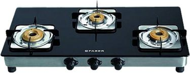 Faber Supreme 3BB Steel Manual Gas Stove(3 Burners) Price in India