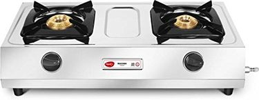 Pigeon Maxima Stainless Steel Manual Gas Cooktop (2 Burner) Price in India
