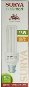 Surya Ecosmart 23W B22 CFL Bulb (White, Pack of 6) Price in India
