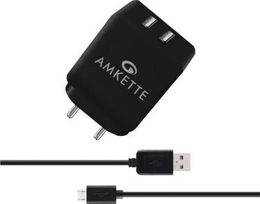 Amkette Power Pro 3.4A Dual Port Wall Charger Price in India