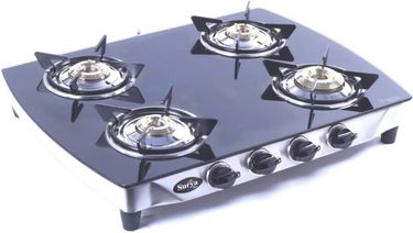 Surya Care SC-GLS-401 Stainless Steel Manual Gas Cooktop (4 Burners) Price in India