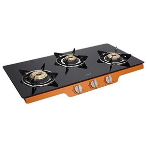Elica Patio ICT 773 Glass Auto Ignition Gas Cooktop (3 Burners) Price in India