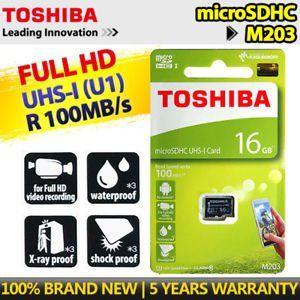 Toshiba M203 16GB Class 10 (100MB/s) MicroSD Memory Card Price in India