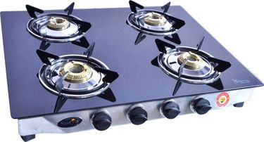 Surya Care SC-GLSB-402 Stainless Steel Manual Gas Cooktop (4 Burners) Price in India