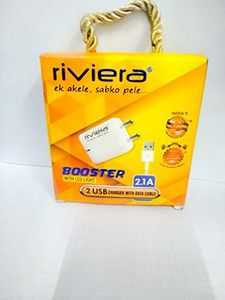 Riviera Booster 2.1A Mobile Charger Price in India