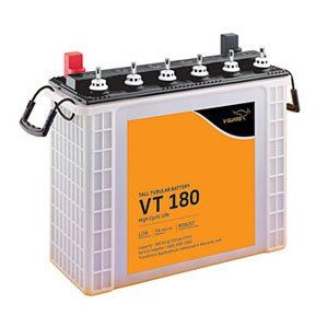 V-Guard VT180 180AH Tall Tubular Inverter Battery Price in India