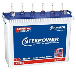 Microtek Mtek Power ET-648 Tall 150Ah Tubular Battery Price in India