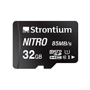 Strontium Nitro 32GB MicroSDHC Class 10 (84MB/s) Memory Card Price in India