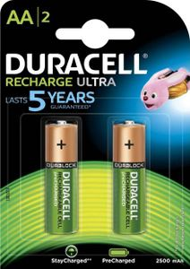 Duracell Ultra AA 2500 mAh Rechargeable Batteries (2 Pcs) Price in India