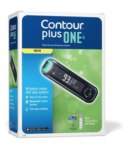 Bayer Contour Plus One Glucometer (With 25 Strips) Price in India